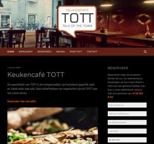 TOTT homepage desktop